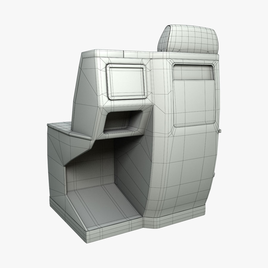 头等舱飞机座椅(Rigged) royalty-free 3d model - Preview no. 6