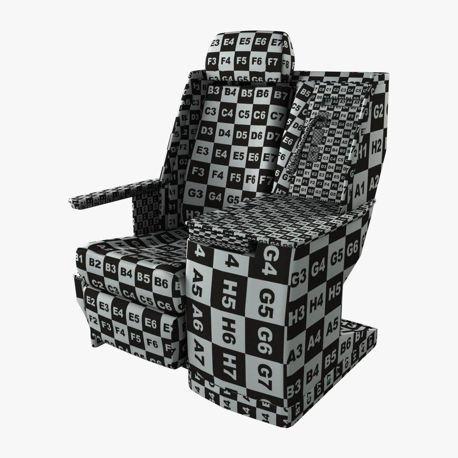 头等舱飞机座椅(Rigged) royalty-free 3d model - Preview no. 2