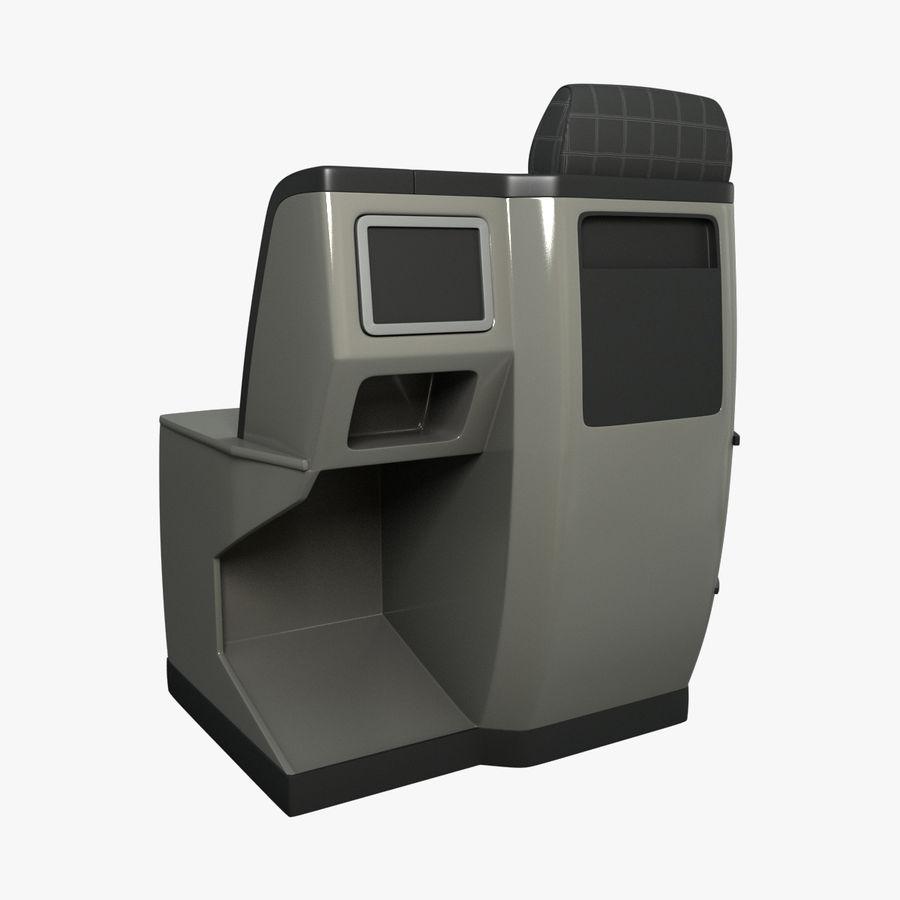 头等舱飞机座椅(Rigged) royalty-free 3d model - Preview no. 4