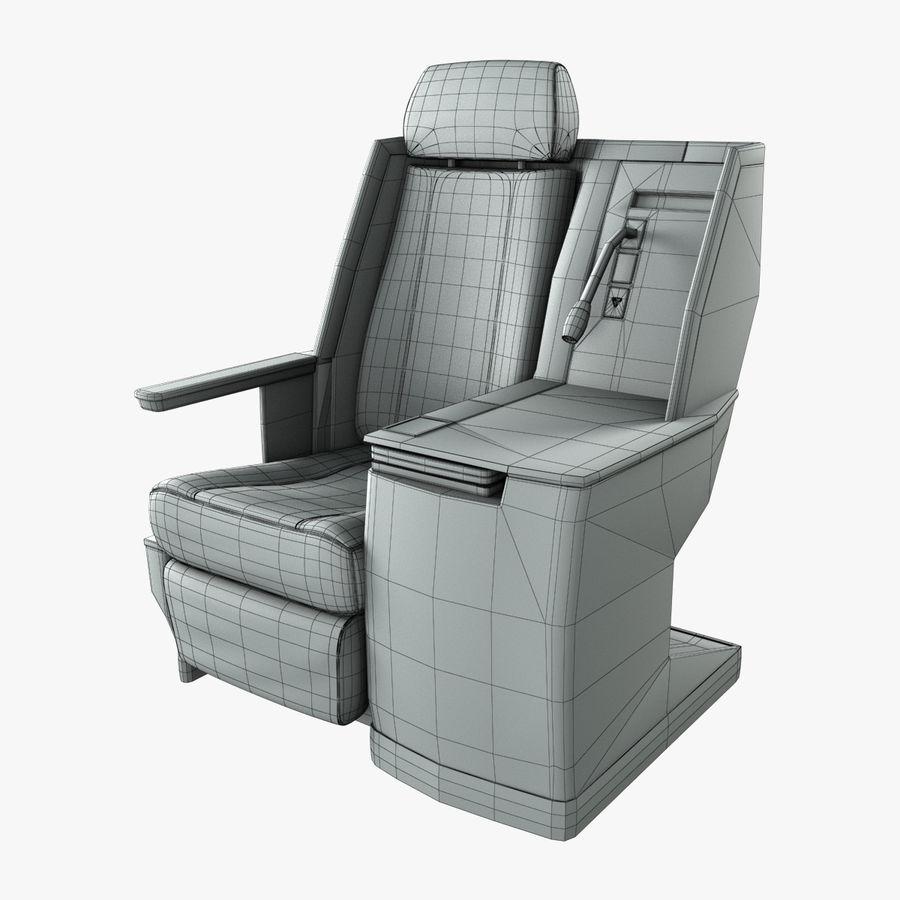 头等舱飞机座椅(Rigged) royalty-free 3d model - Preview no. 3