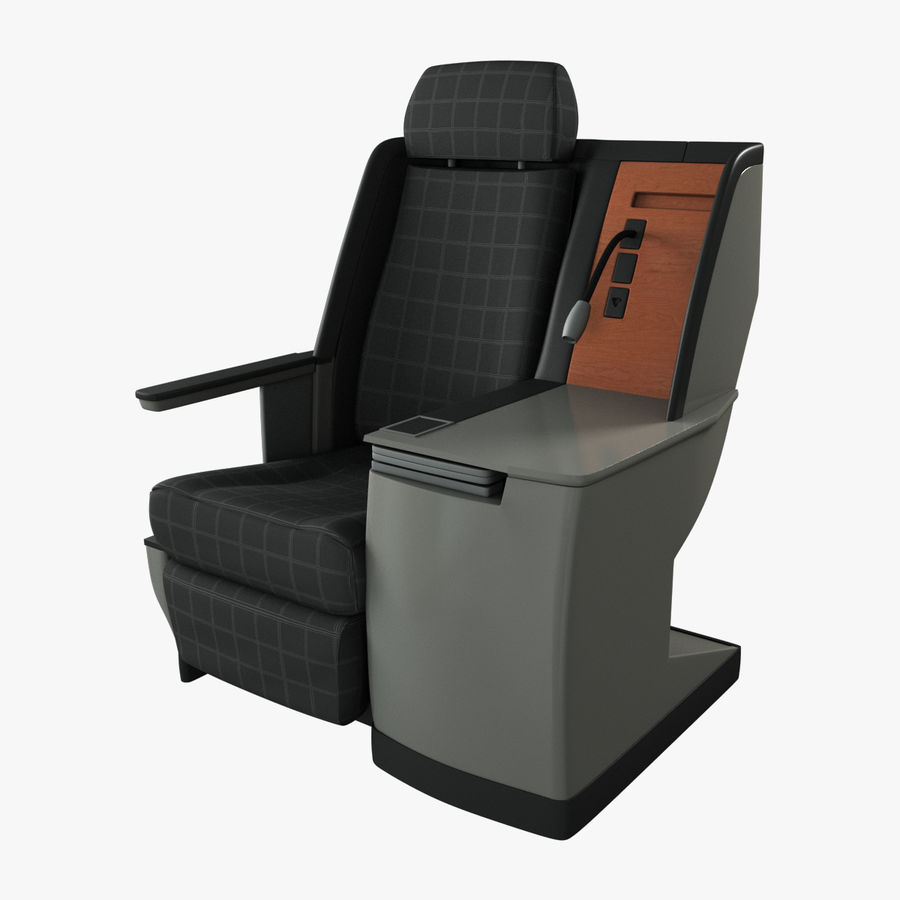 First Class Airplane Seat (Rigged) royalty-free 3d model - Preview no. 1