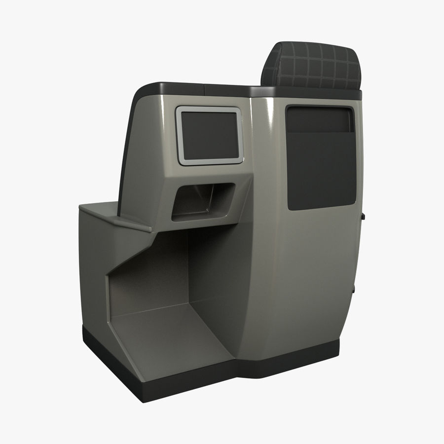 First Class Airplane Seat (Rigged) royalty-free 3d model - Preview no. 4