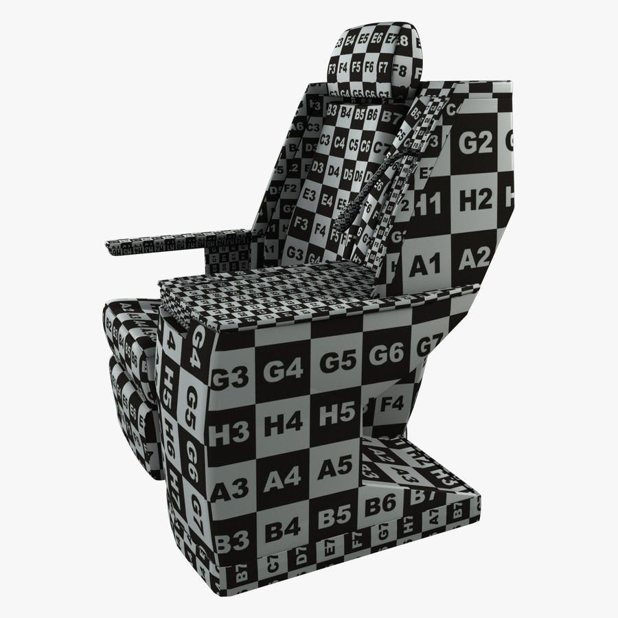 First Class Airplane Seat (Rigged) royalty-free 3d model - Preview no. 8