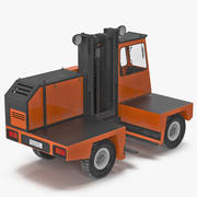 Caminhão de Empilhadeira de Carga Lateral Modelo 3D Laranja 3d model