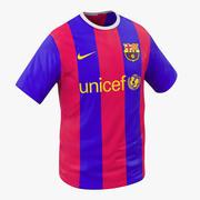 T-Shirt Barcelona 3D Model 3d model