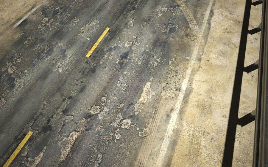 Damaged Road V2 royalty-free 3d model - Preview no. 1