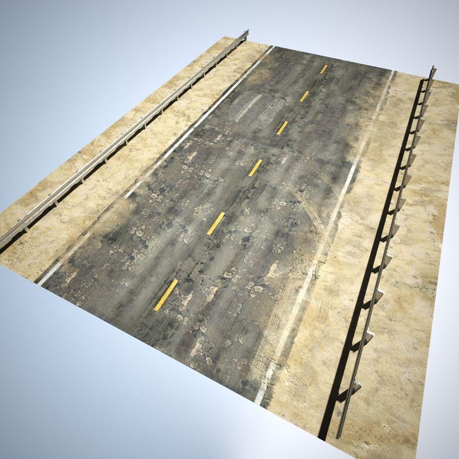 Damaged Road V2 royalty-free 3d model - Preview no. 9