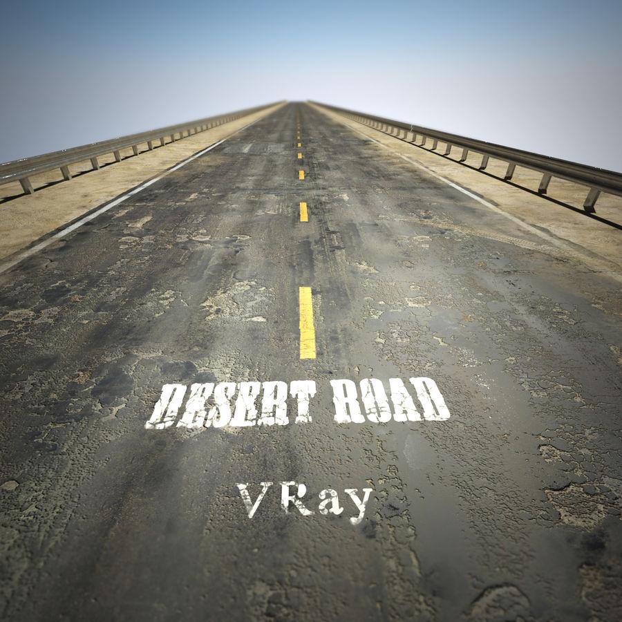 Damaged Road V2 royalty-free 3d model - Preview no. 2