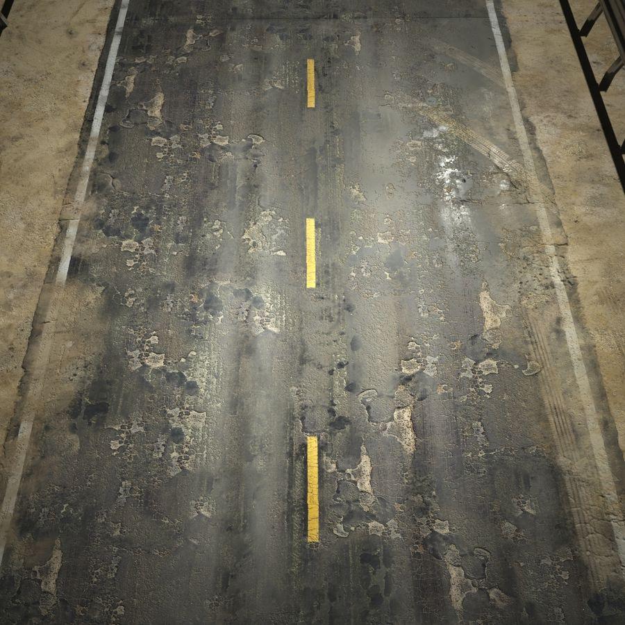 Damaged Road V2 royalty-free 3d model - Preview no. 4