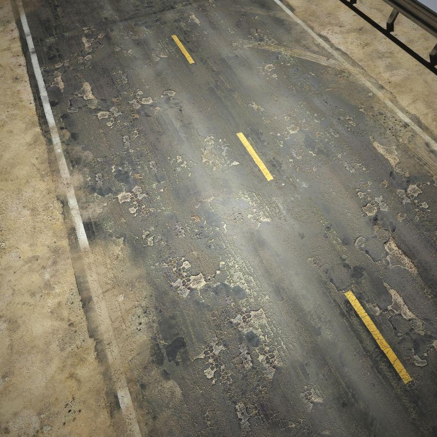 Damaged Road V2 royalty-free 3d model - Preview no. 14