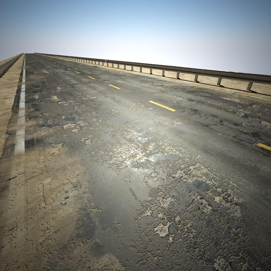 Damaged Road V2 royalty-free 3d model - Preview no. 3