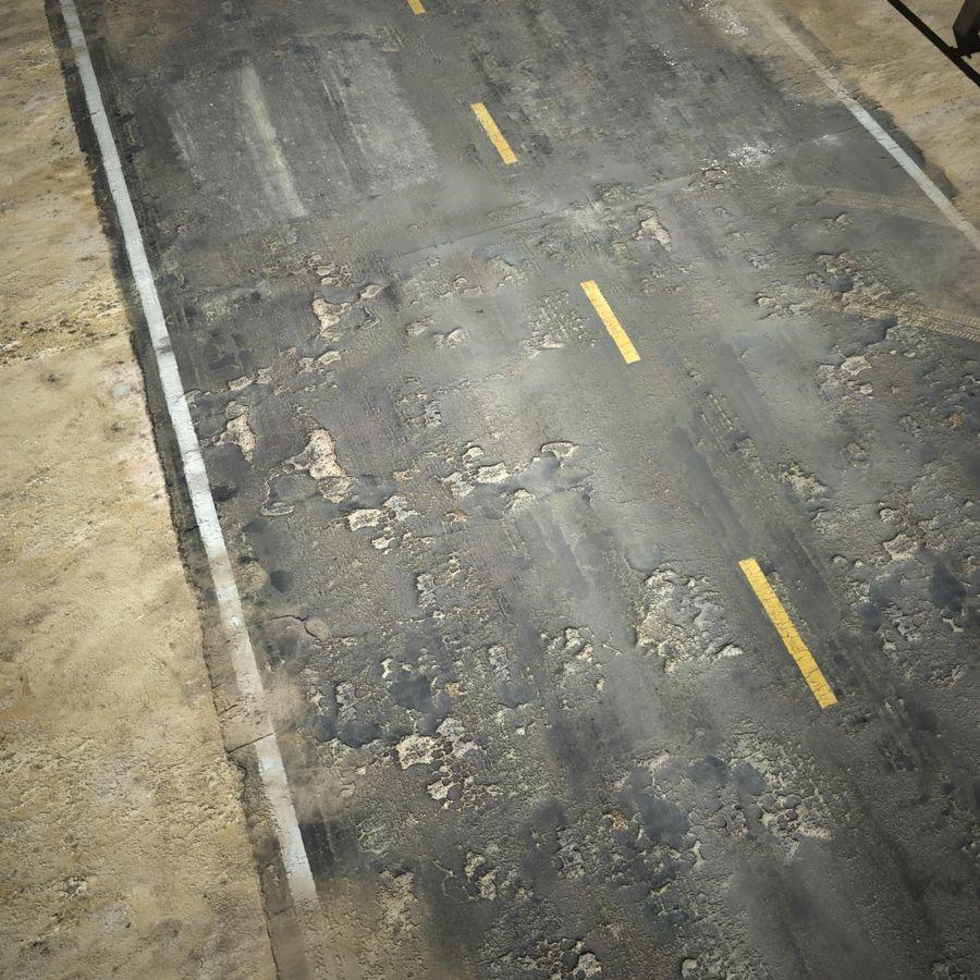 Damaged Road V2 royalty-free 3d model - Preview no. 12