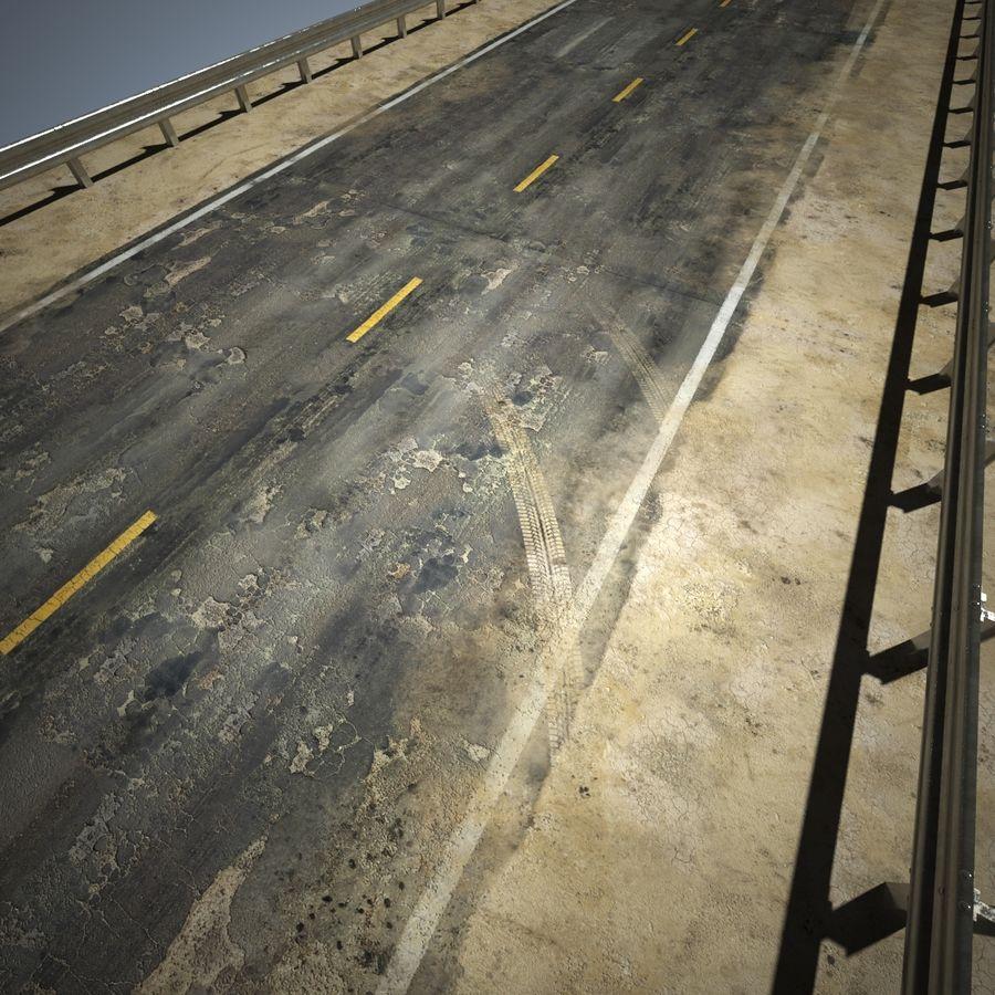 Damaged Road V2 royalty-free 3d model - Preview no. 16