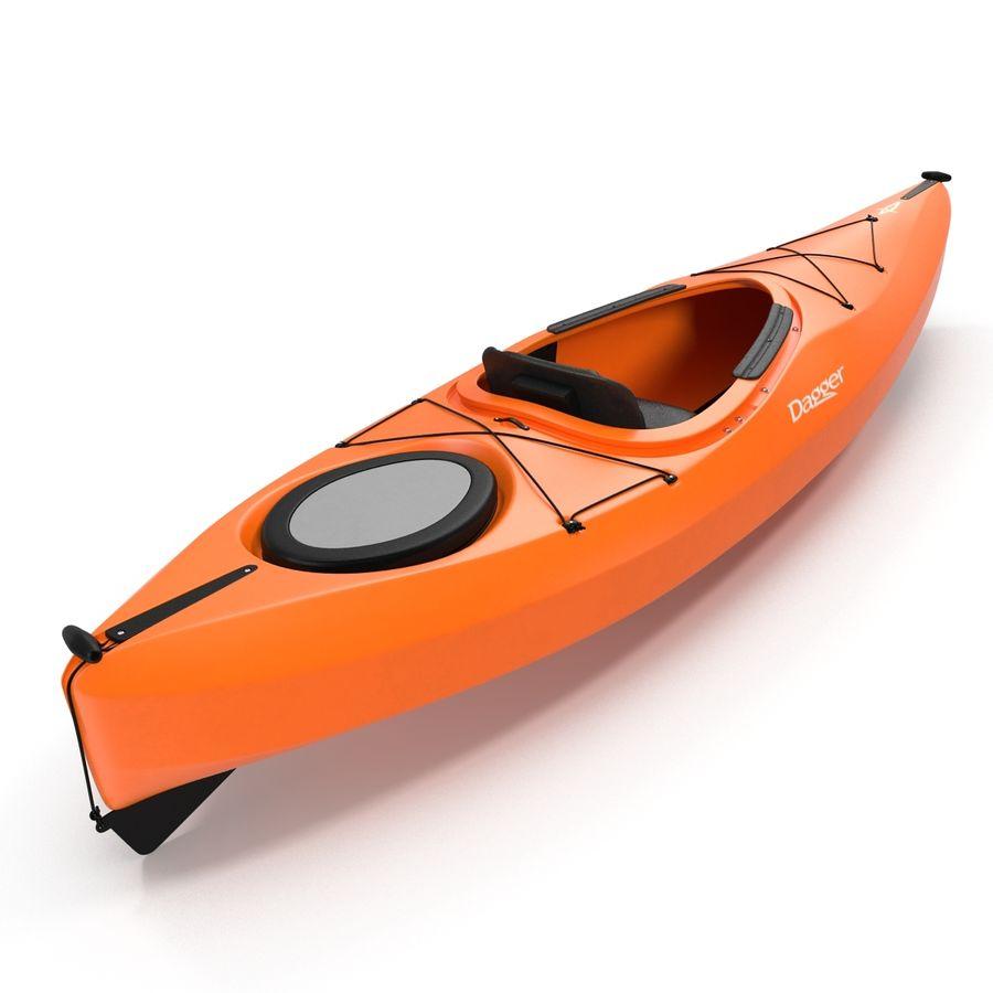 Kayak naranja royalty-free modelo 3d - Preview no. 14