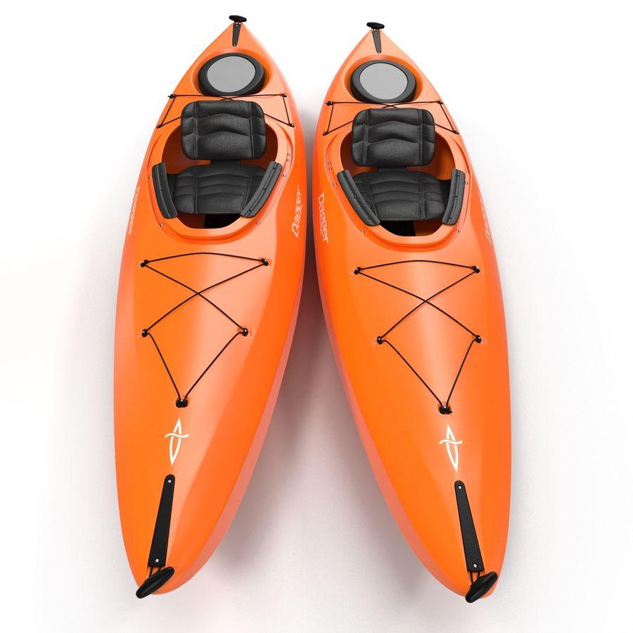 Kayak naranja royalty-free modelo 3d - Preview no. 6