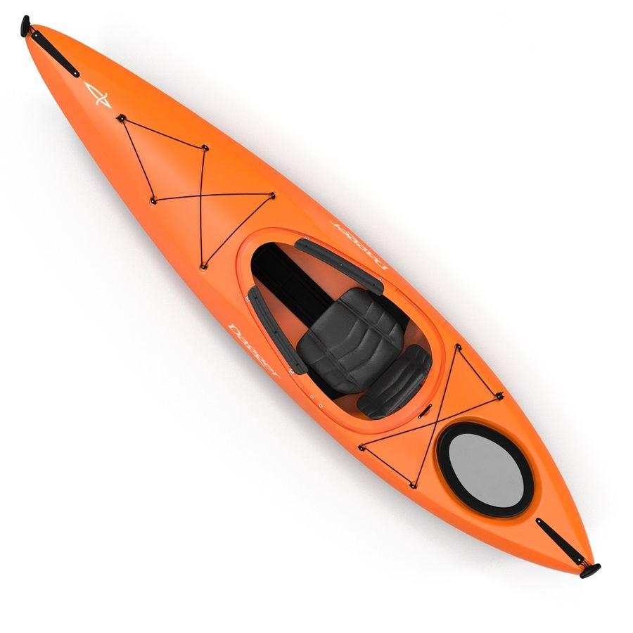Kayak naranja royalty-free modelo 3d - Preview no. 11