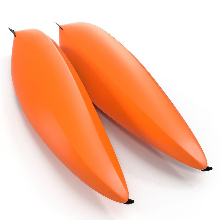 Kayak naranja royalty-free modelo 3d - Preview no. 7