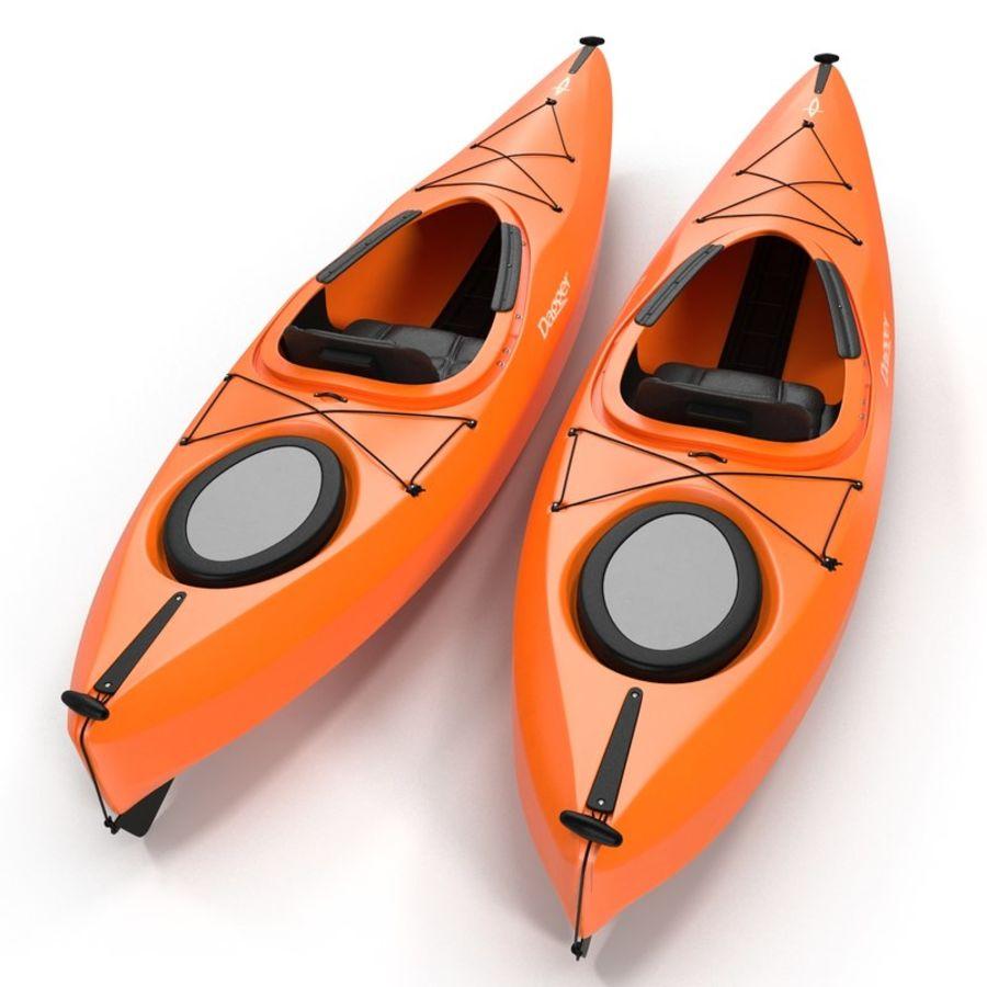 Kayak naranja royalty-free modelo 3d - Preview no. 5