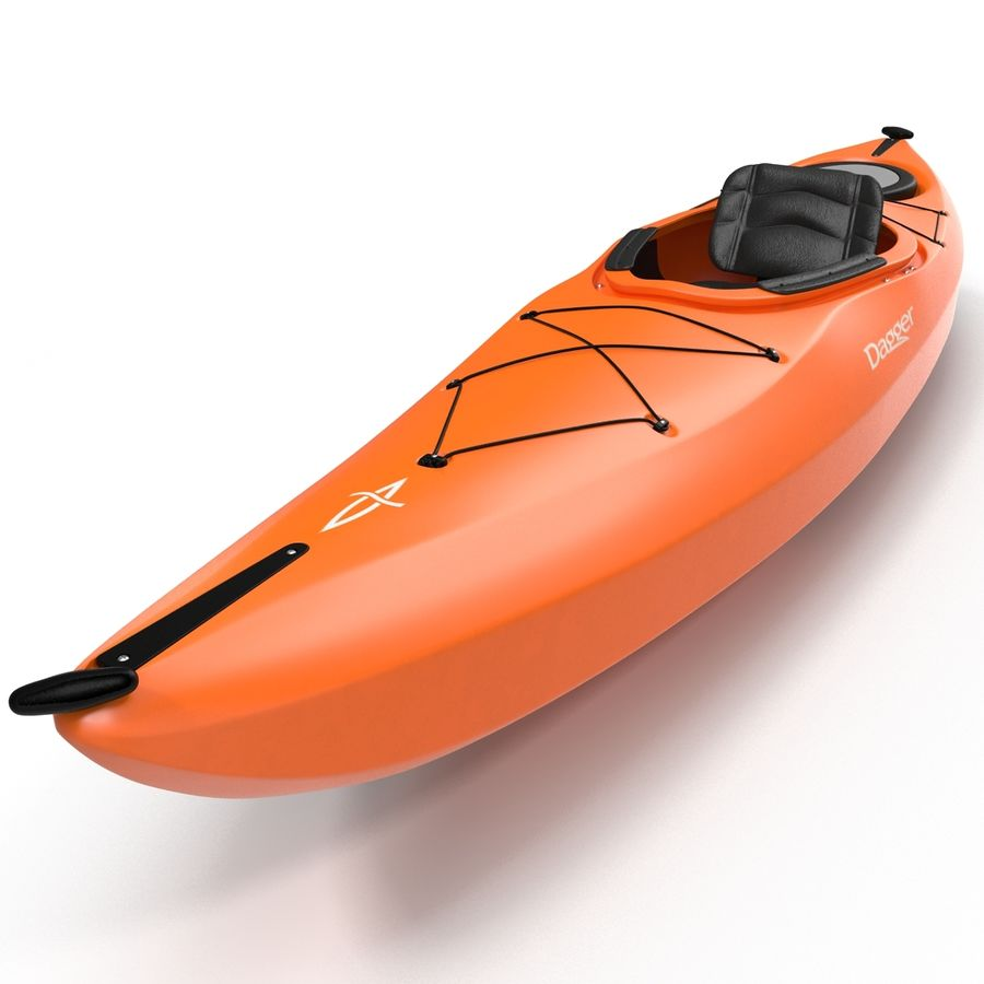 Kayak naranja royalty-free modelo 3d - Preview no. 12