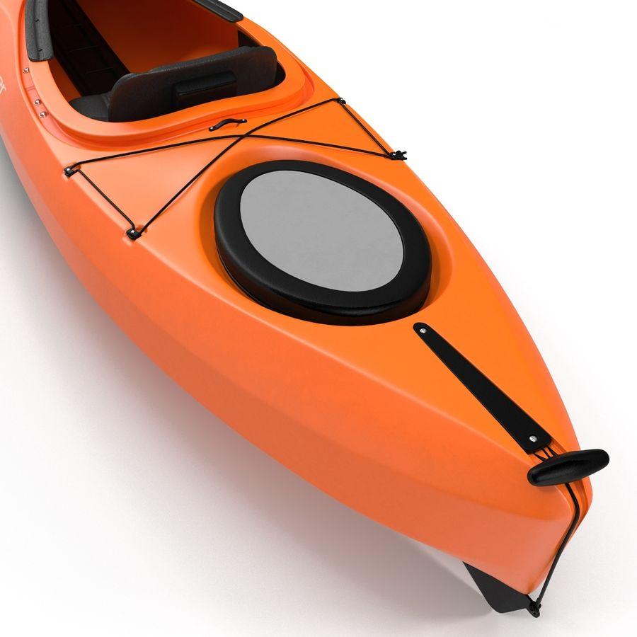 Kayak naranja royalty-free modelo 3d - Preview no. 17