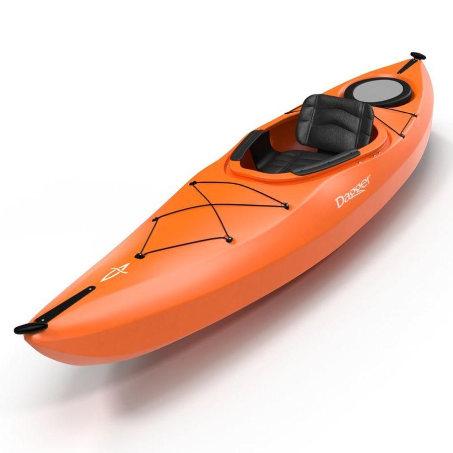Kayak naranja royalty-free modelo 3d - Preview no. 2