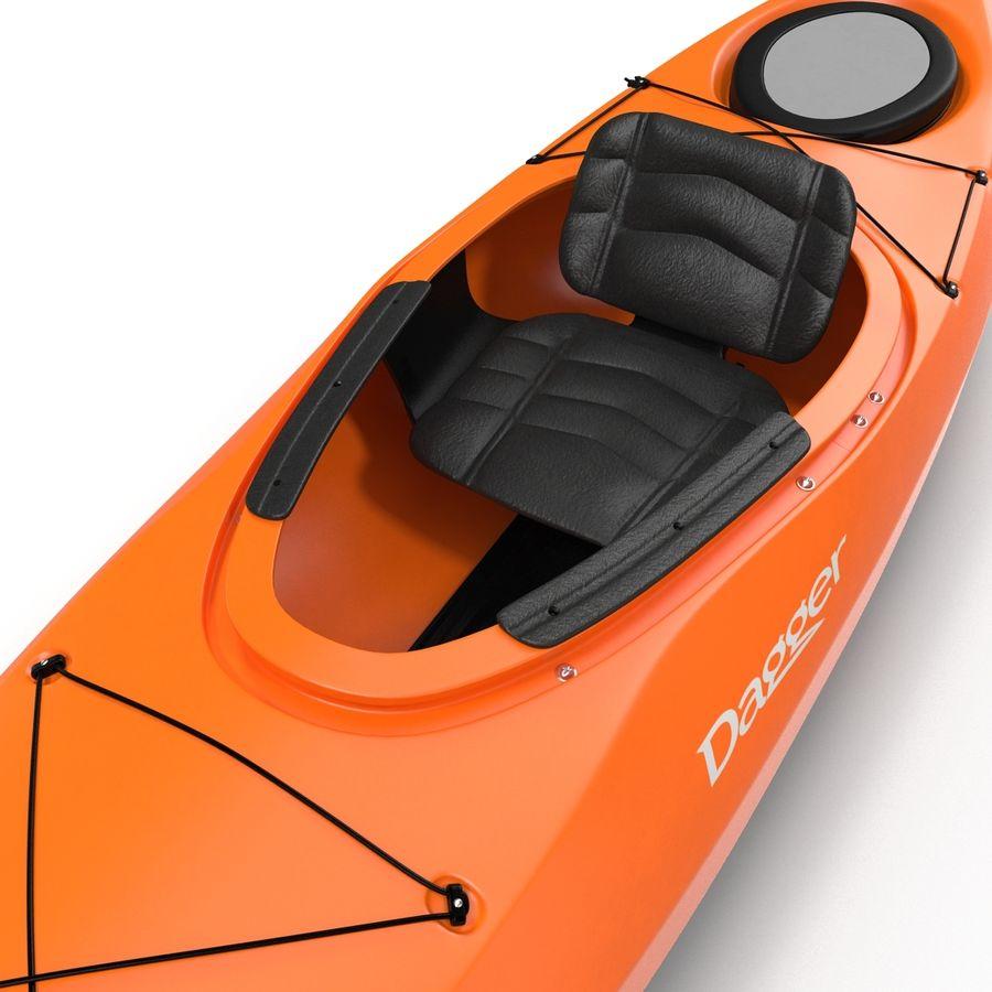 Kayak naranja royalty-free modelo 3d - Preview no. 16