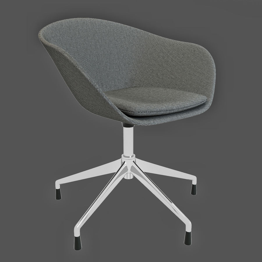 Fabulous Arper Duna 5 Ways Chair 3D Model 29 Max Obj Fbx Free3D Machost Co Dining Chair Design Ideas Machostcouk