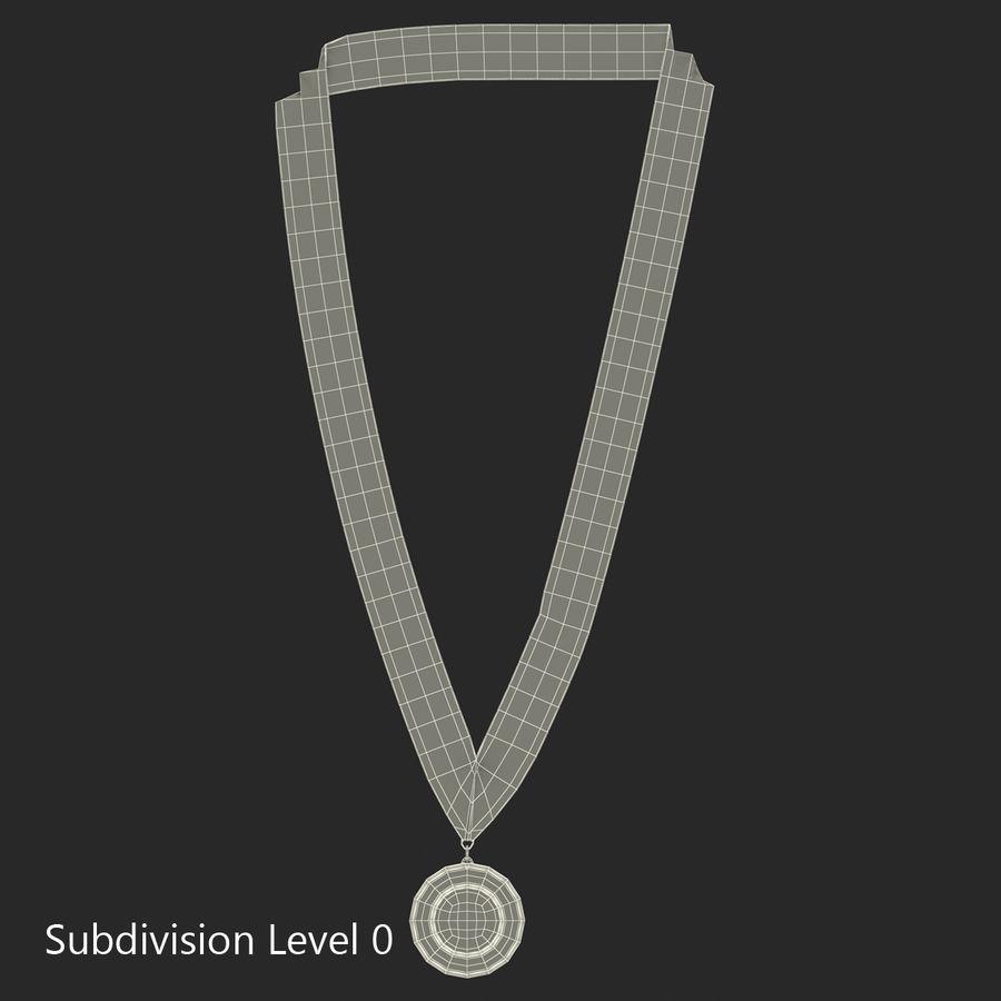 Nagroda Medal Złoty royalty-free 3d model - Preview no. 9