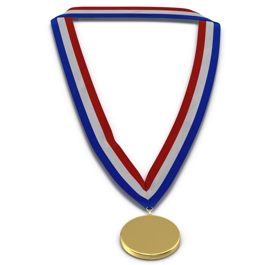 Nagroda Medal Złoty royalty-free 3d model - Preview no. 5