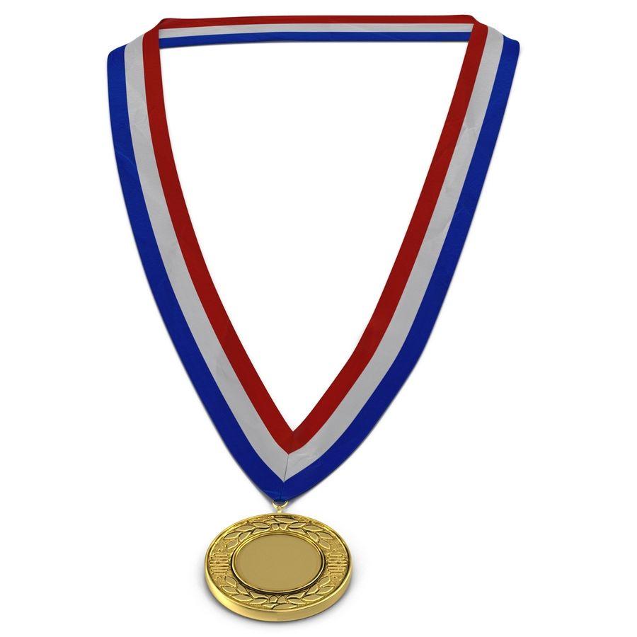 Nagroda Medal Złoty royalty-free 3d model - Preview no. 4