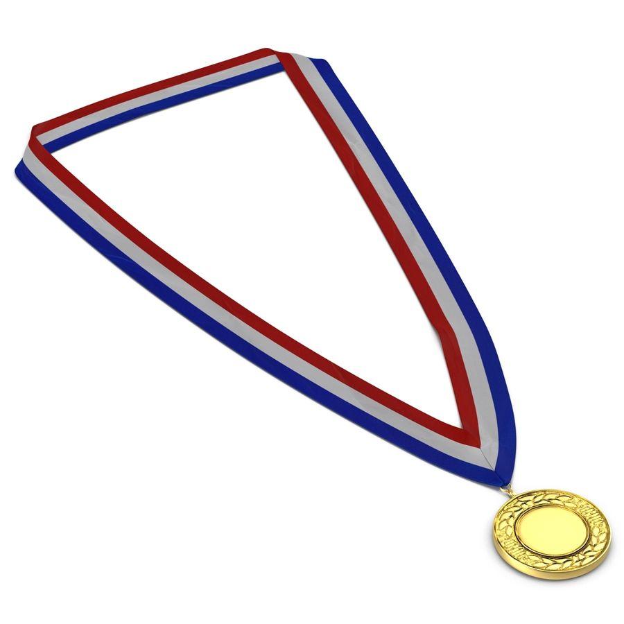 Nagroda Medal Złoty royalty-free 3d model - Preview no. 3