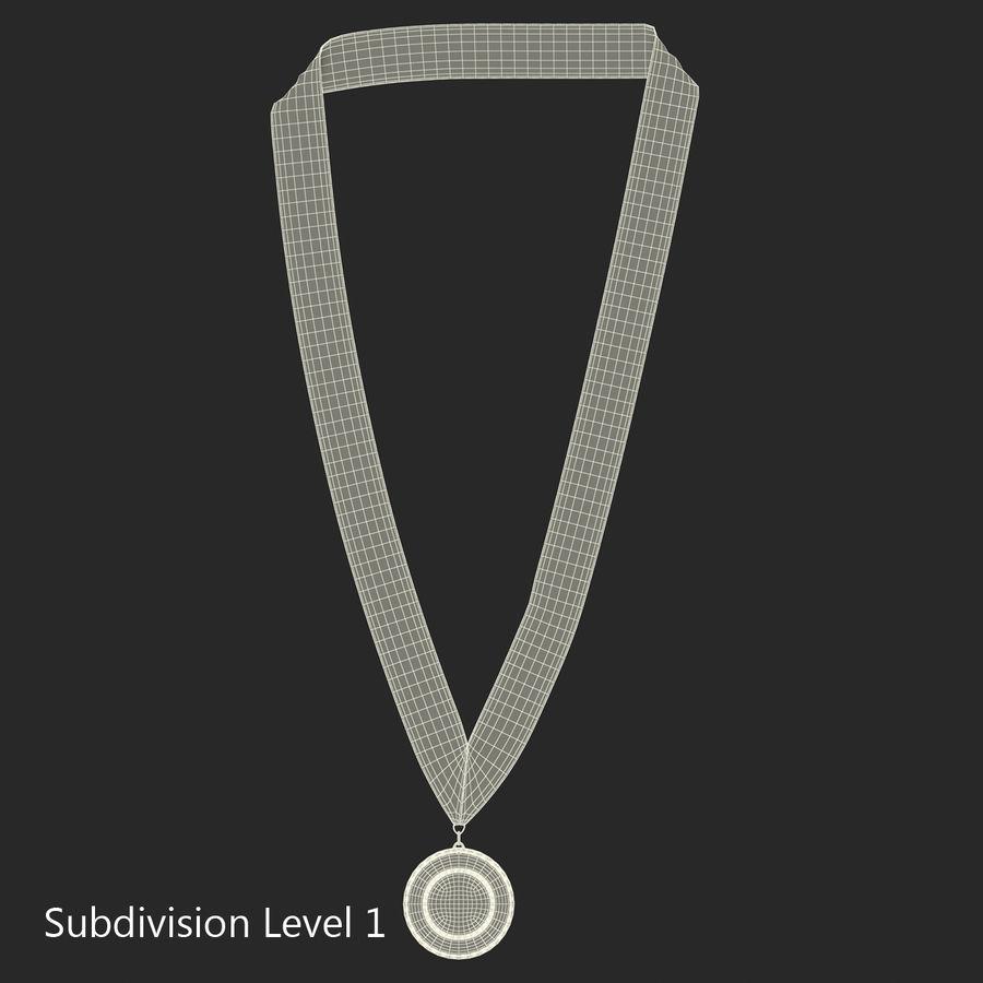 Nagroda Medal Złoty royalty-free 3d model - Preview no. 10