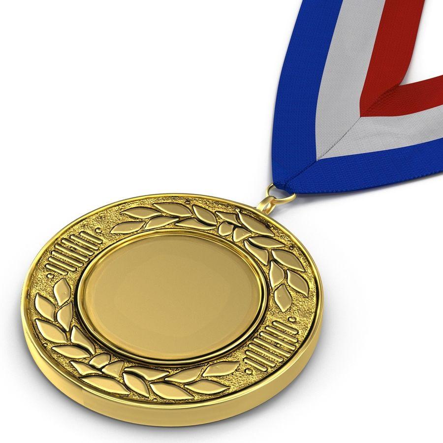 Nagroda Medal Złoty royalty-free 3d model - Preview no. 7