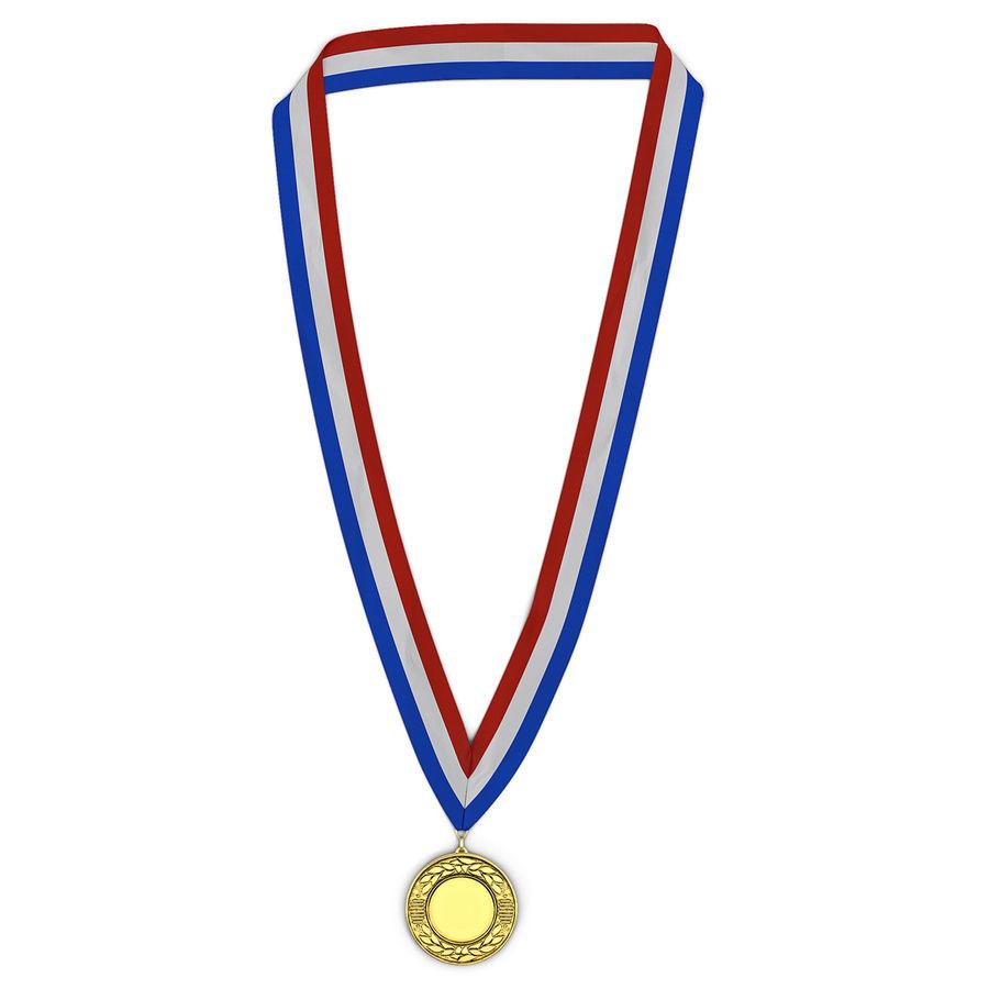 Nagroda Medal Złoty royalty-free 3d model - Preview no. 2