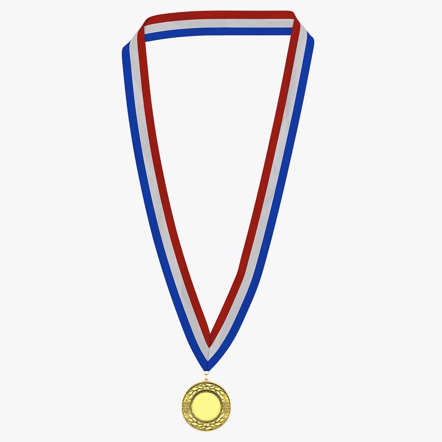Nagroda Medal Złoty royalty-free 3d model - Preview no. 1
