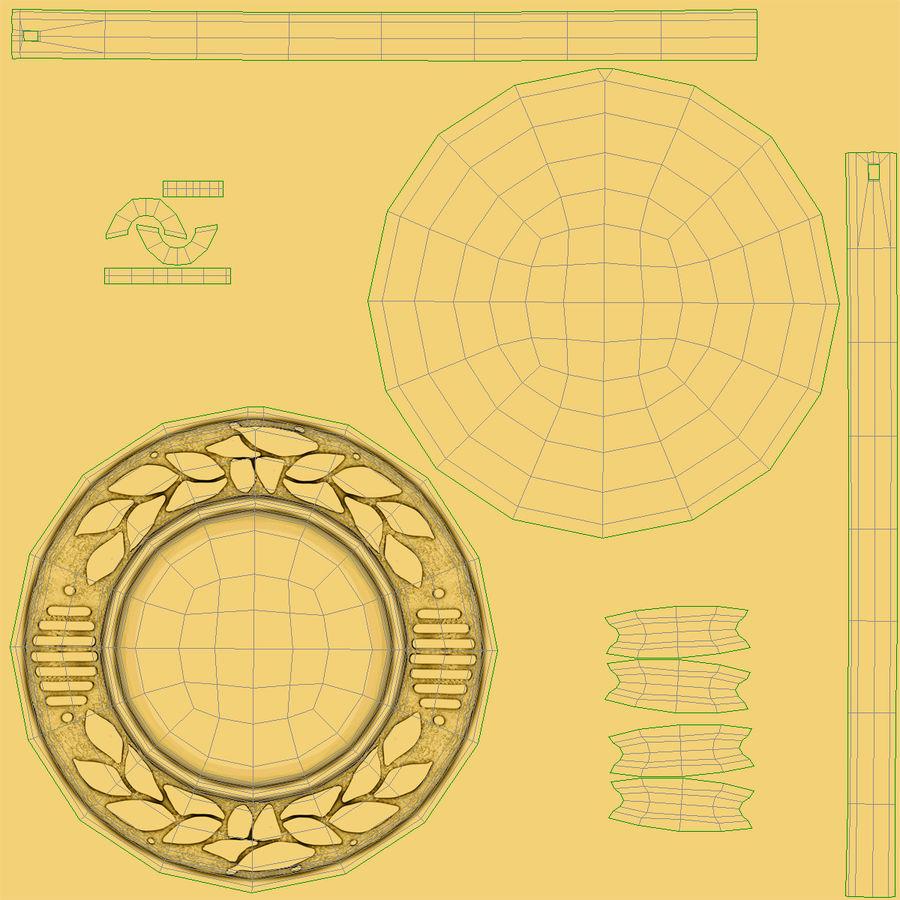 Nagroda Medal Złoty royalty-free 3d model - Preview no. 11
