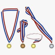 Award Medals Set 2 3d model