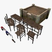 Old Harbor Parts Set [Lowpoly] 3d model