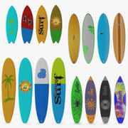 Surfboards Collection 2 3d model