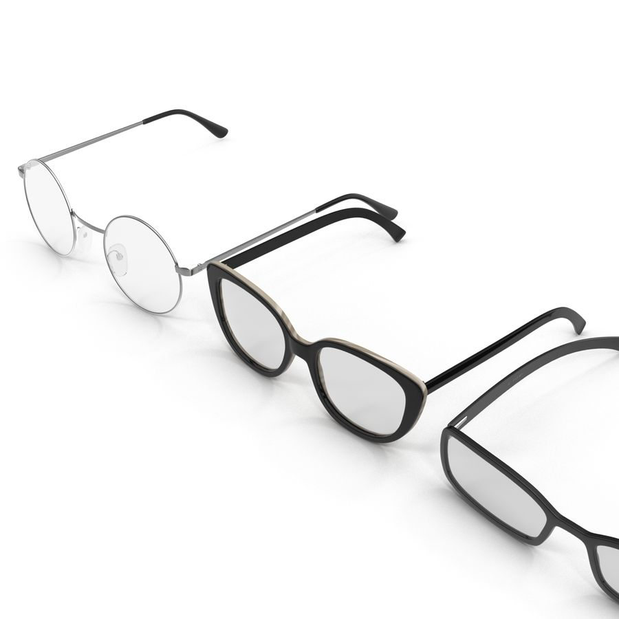 Glasses Collection royalty-free 3d model - Preview no. 4