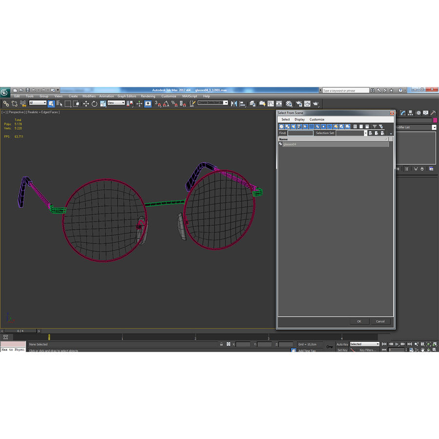 Glasses Collection royalty-free 3d model - Preview no. 62