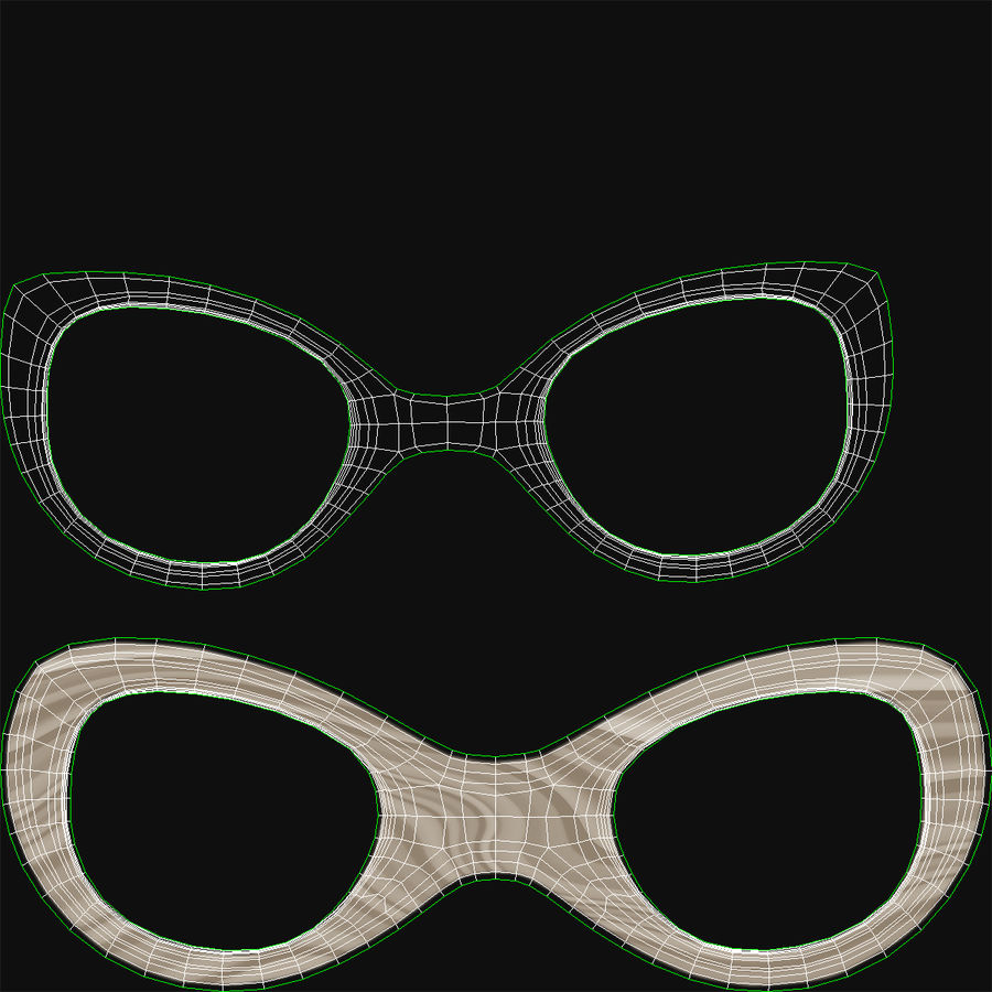 Glasses Collection royalty-free 3d model - Preview no. 55