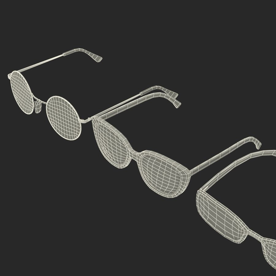Glasses Collection royalty-free 3d model - Preview no. 65