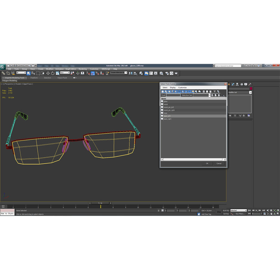 Glasses Collection royalty-free 3d model - Preview no. 60