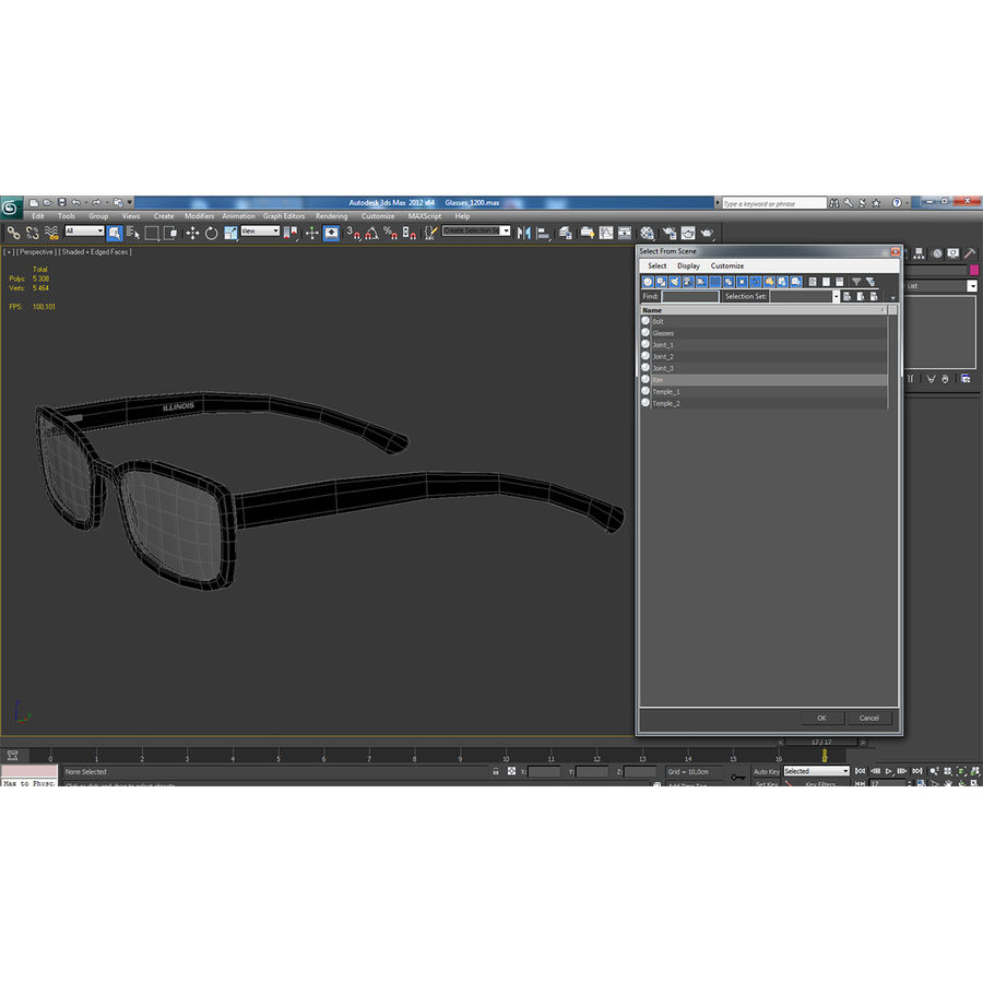 Glasses Collection royalty-free 3d model - Preview no. 63
