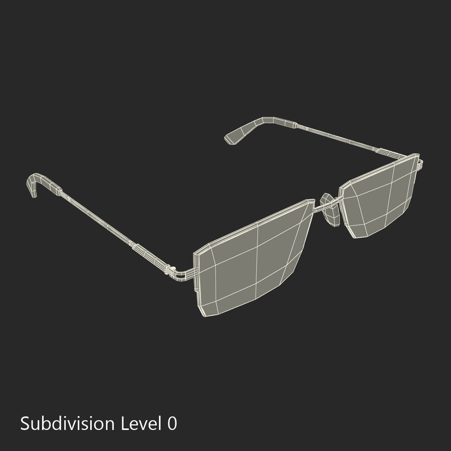 Glasses Collection royalty-free 3d model - Preview no. 52