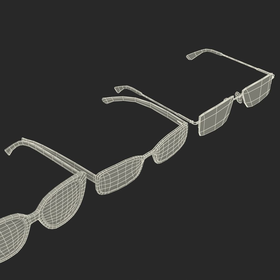 Glasses Collection royalty-free 3d model - Preview no. 66