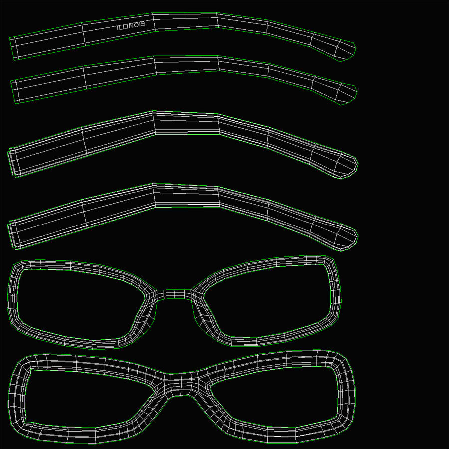 Glasses Collection royalty-free 3d model - Preview no. 56