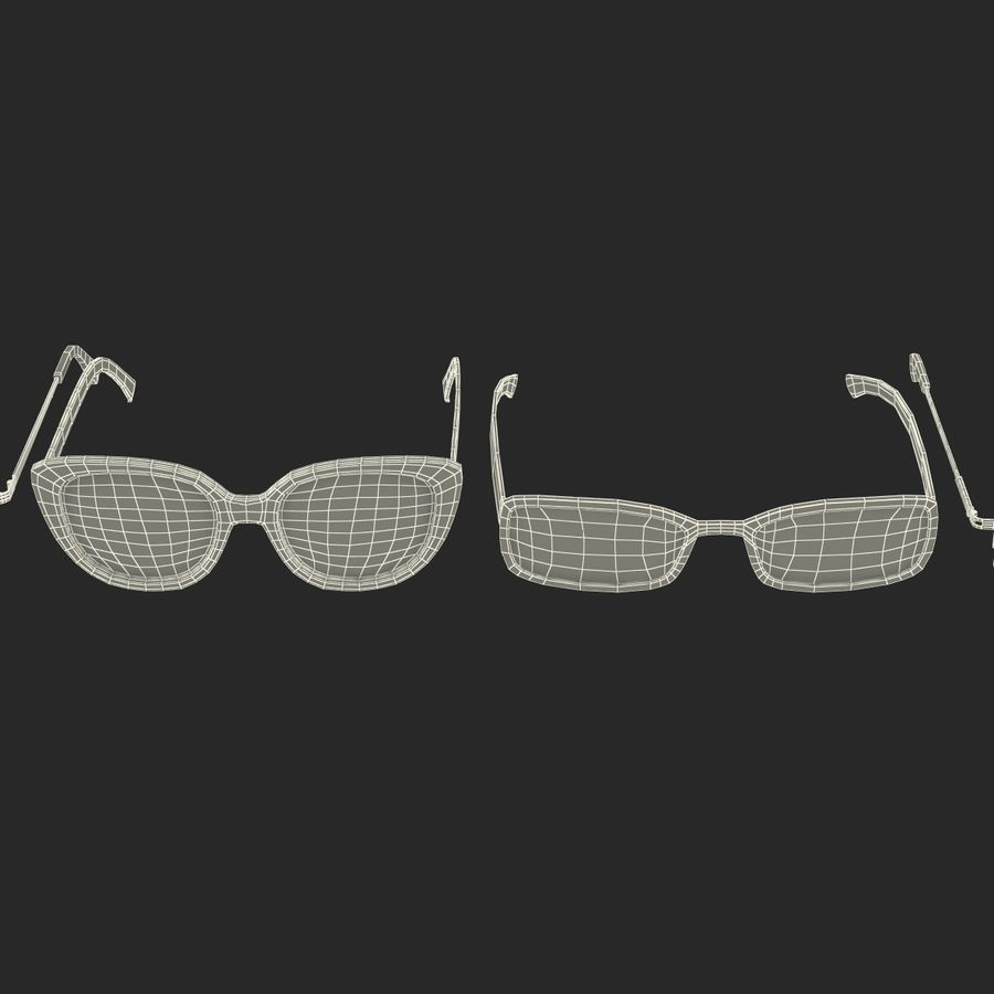 Glasses Collection royalty-free 3d model - Preview no. 67