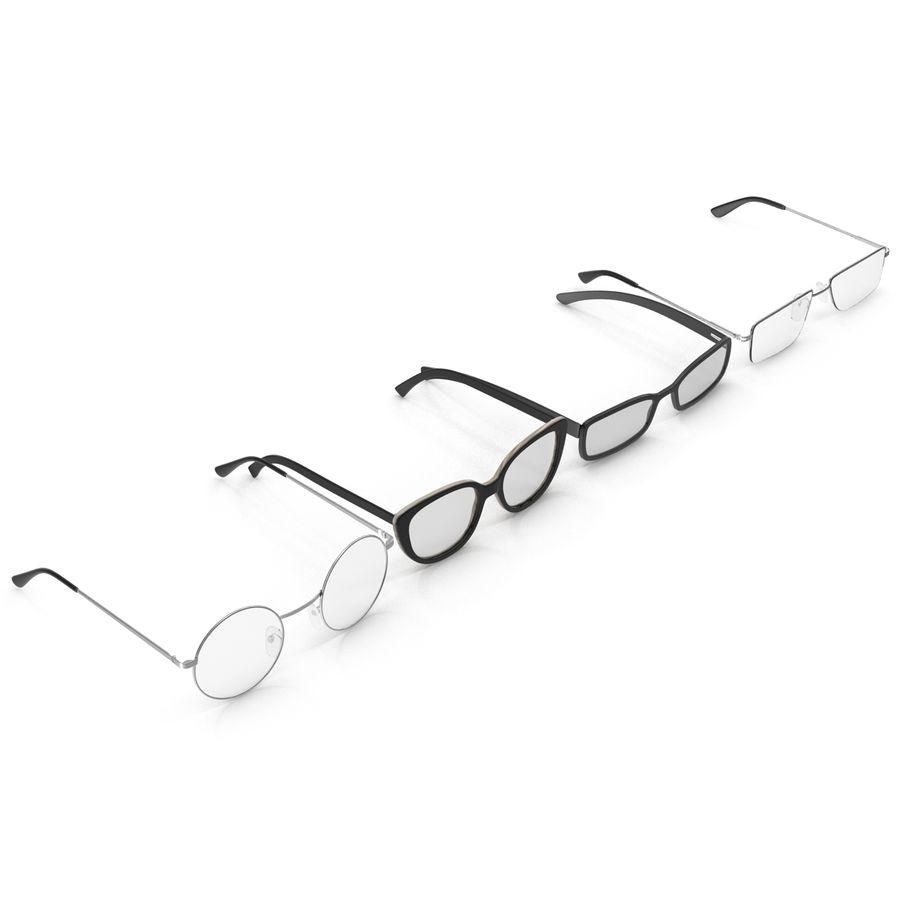 Glasses Collection royalty-free 3d model - Preview no. 2